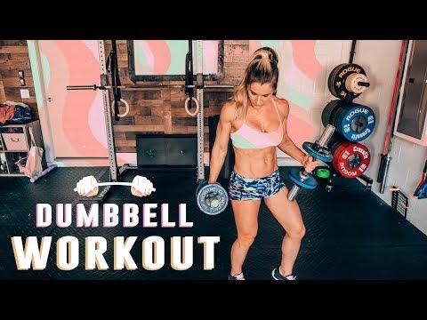 Dumbbell Cardio Workout | Sarah Grace Fitness