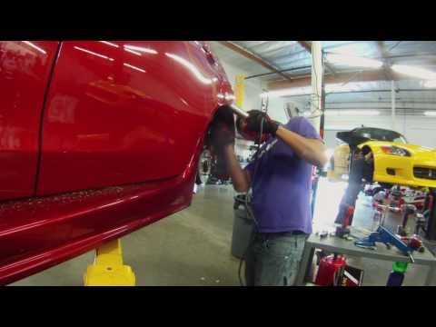 Fightex Coilover install at Evasive Motorsports
