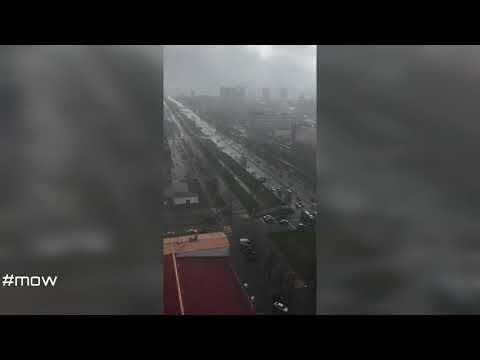 Движение транспорта на Алтуфьевском шоссе в Москве 18.04.2020