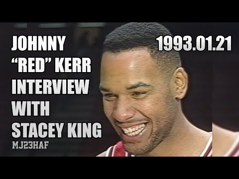 """John """"RED"""" Kerr Post-Game Interview with STACEY KING (1993.01.21)"""