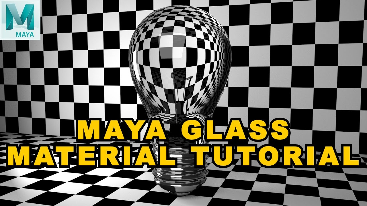 Shaders for maya: glass solid.