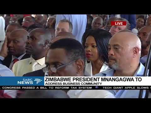 Mnangwagwa addresses high level business delegation in Pretoria 2017