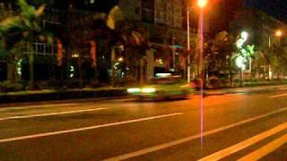 """Top Tourist City in China"" Luzhou City Sichuan Province China Night Driving Big City Lights Life"