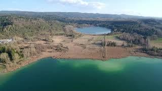 Clairvaux les lacs . Jura drone . Franche comté.Camping Le Fayolan