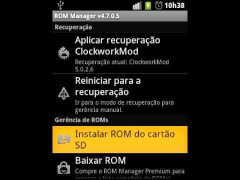 Instalar ROM Pelo ROM Manager.