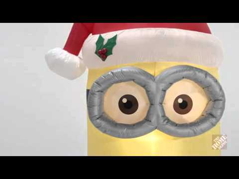 Christmas Inflatable minion kevin 2015 - YouTube