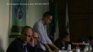 I miei 2 interventi in Consiglio Comunale del 25/05/2017