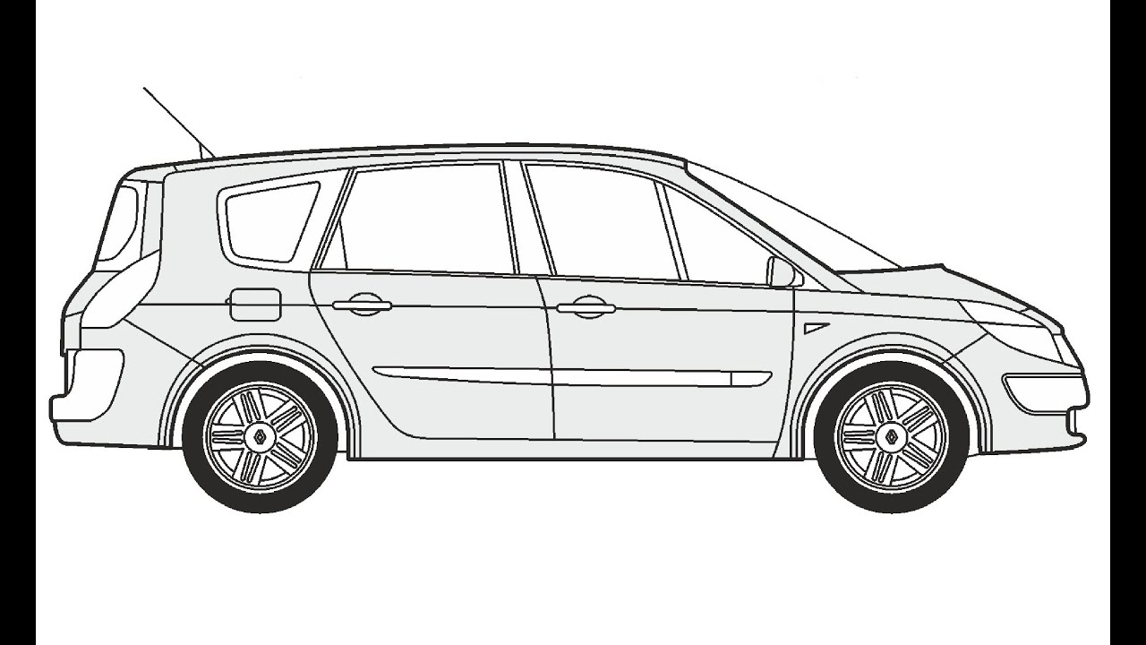 How to Draw a Renault Grand Scenic / Как нарисовать