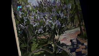 Уроки рисования (№ 94) масляными красками. Рисуем куст сирени в парке на холсте