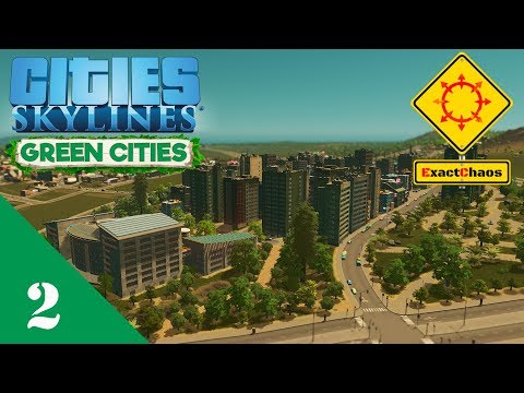 Cities Skylines Green Cities Let's Play 2 - Organic and Local Produce District