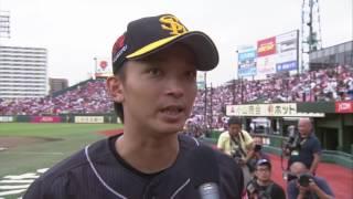 ホークス・東浜投手のヒーローインタビュー動画。 2017/07/27 東北楽天...