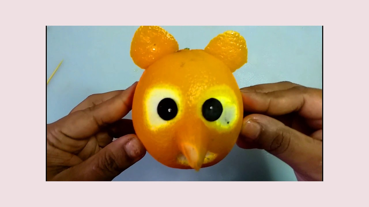Easy fruit decoration  Make Malta। Easy With a Ridiculous Design ।  How To Make Bear From Orange ।