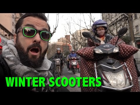 Winter Scooters in China (Fashion Show)