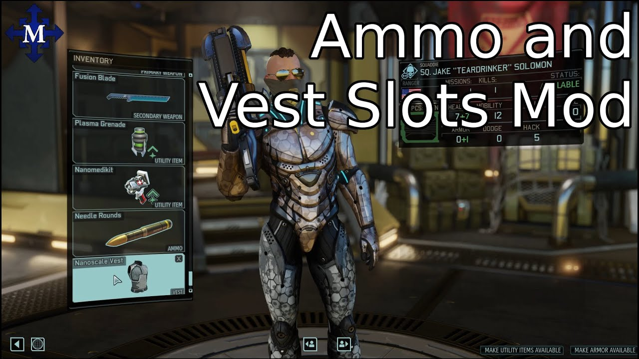 xcom 2 made a mod ammo and vest slots youtube