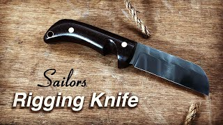 Knife Making, How t๐ Make a Sailors Rigging Knife without a Forge.