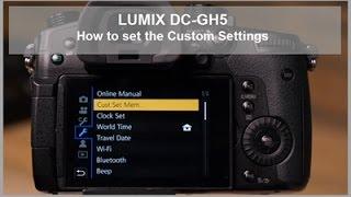 Діапазон постійного струму-GH5, постійного струму-GH5S - Як встановити користувальницькі налаштування