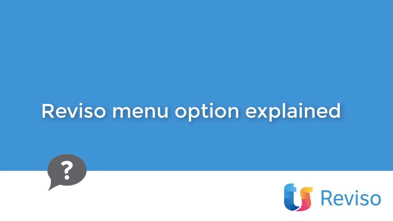 Download Reviso menu options in Reviso
