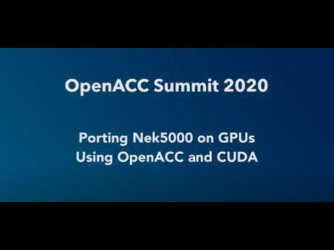 Download Porting Nek5000 on GPUs Using OpenACC and CUDA