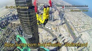 Base Jump vom Burj Khalifa (4K) 2014