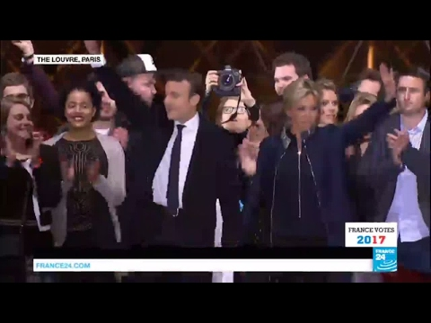 France: President-Elect Emmanuel Macron sings the French anthem La Marseillaise