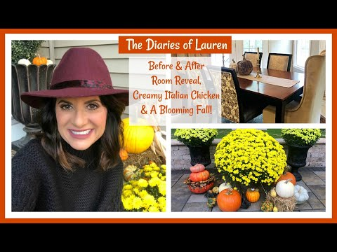 the-diaries-of-lauren:-before-&-after-room-reveal,-creamy-italian-chicken-&-a-blooming-fall!