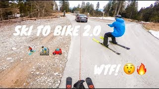 Ski To Bike In One Run 2.0 - CRAZY!!!