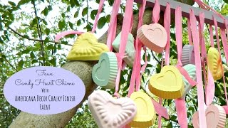 Valentine's Plaster Conversation Candy Heart Ornaments