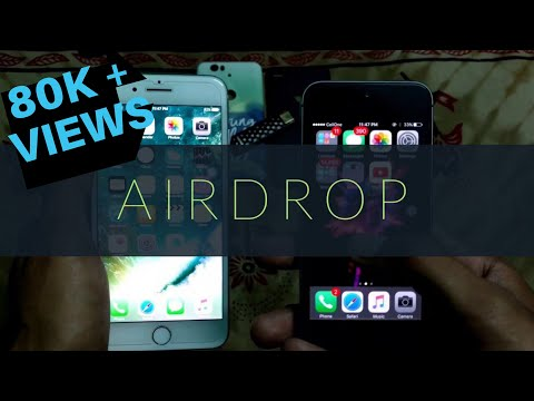 iphone Airdrop : How to share data/ photo/video/ music to iPhone using airdrop on iOS 7/8/9/10/11/12