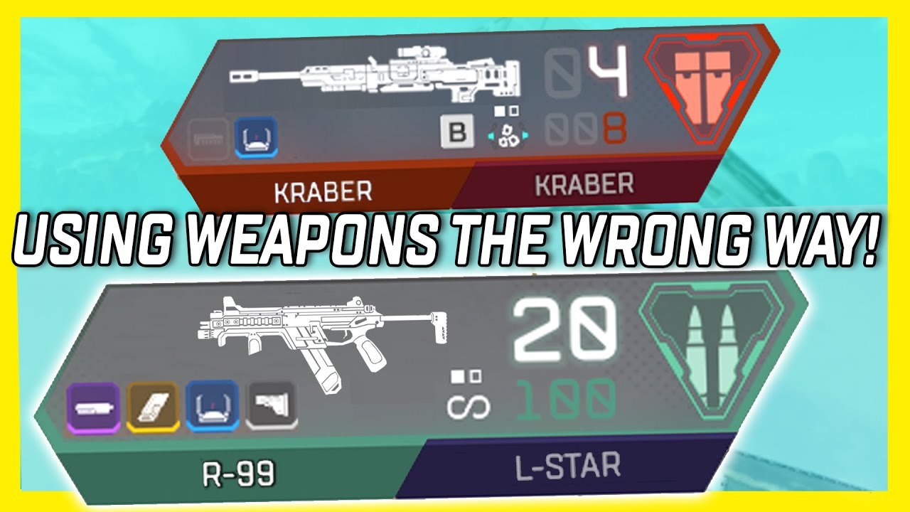 Using Weapons The WRONG Way And Trying To Win In Apex Legends