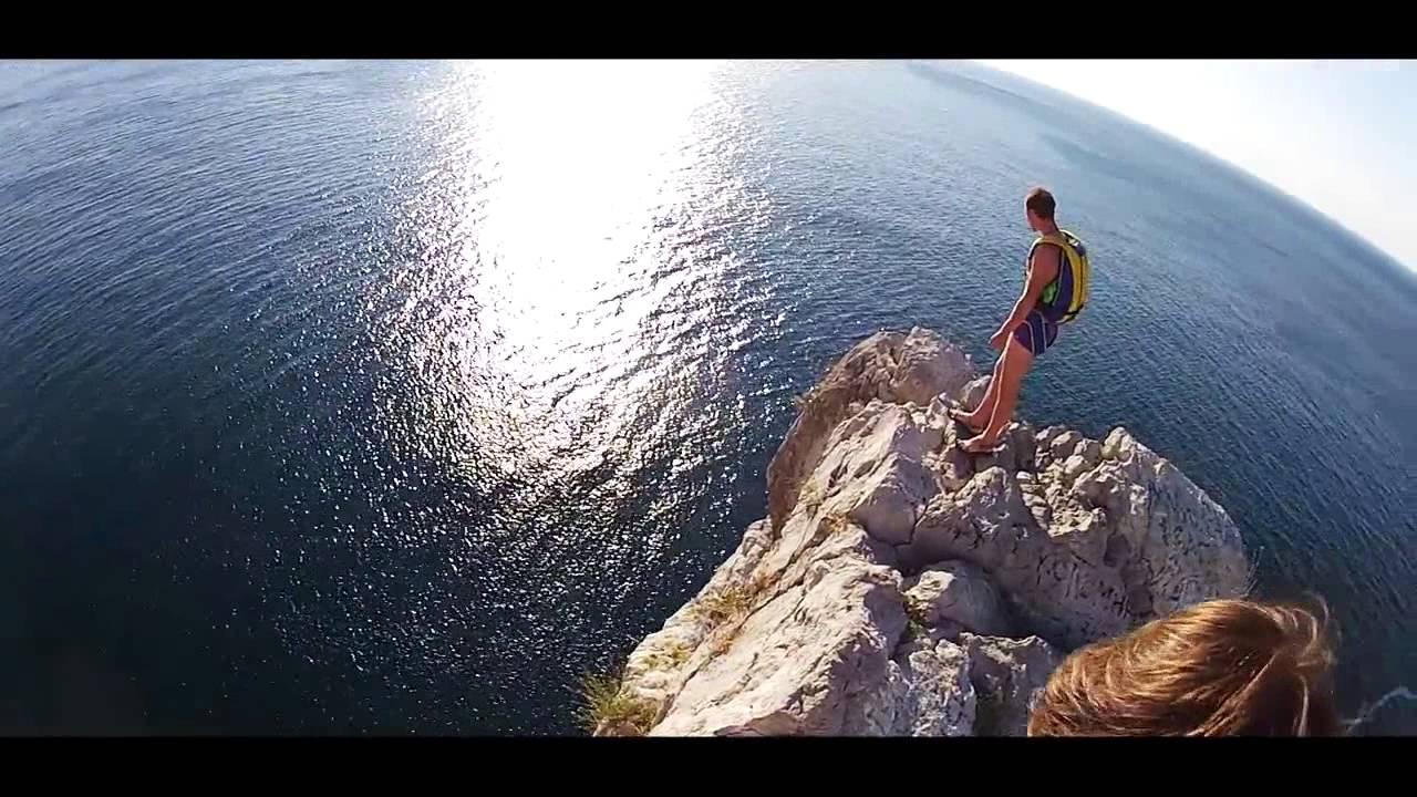 Скала Дива прыжок с парашютом