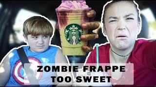 Starbucks Zombie Frappuccino taste test | TOO SWEET!!