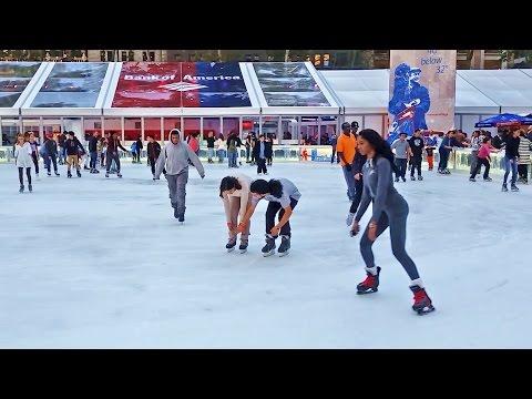 Ice Skating Rink in Bryant Park, New York City