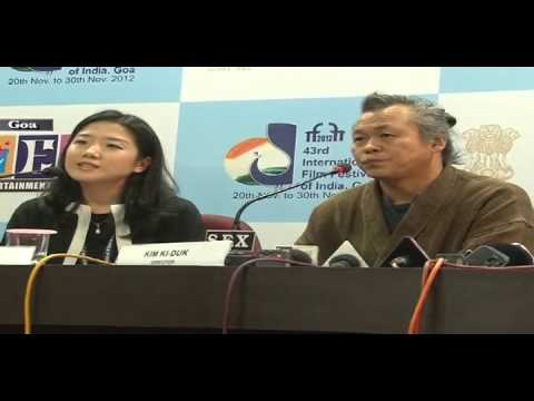 South Korean Film maker Mr. Kim Ki-Duk addressing the press conference