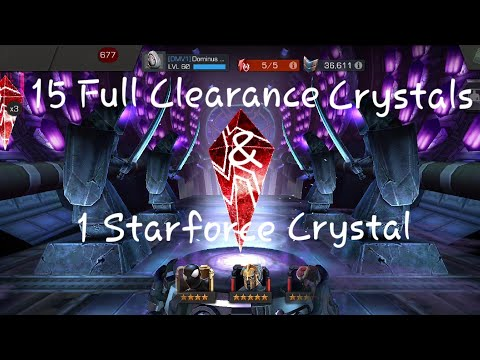 15 Full Clearance Crystals! Can we get Nick Fury early? Marvel Contest of Champions