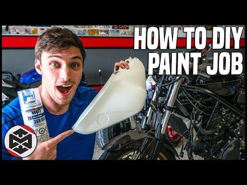 DIY Spray Paint Job on My Motorcycle!