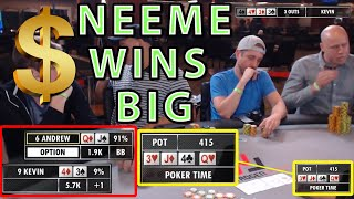 Poker Time: Andrew Neeme Wins a Big One