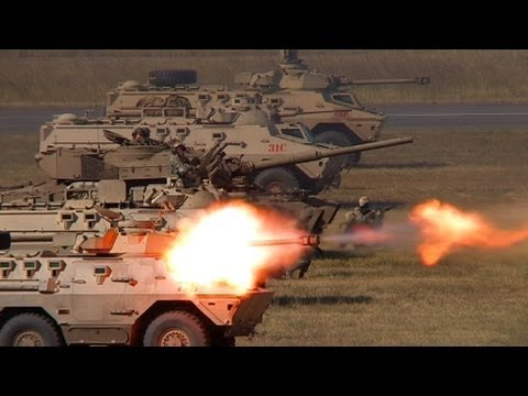 Ratel 90 and SANDF Armour in Mock Battle Formation