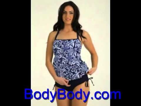 vintage-blue-tankini-plus---women's-swimwear