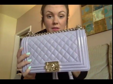 Chanel Boy Bag Pastel Light Purple Old Medium 22 Series Collection- Bag Specs in Comment Box