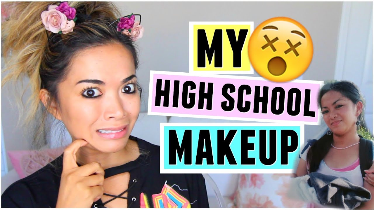 HOW I DID MY MAKEUP IN HIGH SCHOOL Challenge! - YouTube