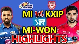 IPL 2018:MI vs KXIP Live Match,Live Score,Live Streaming Online Score:MI Won by 3 Runs