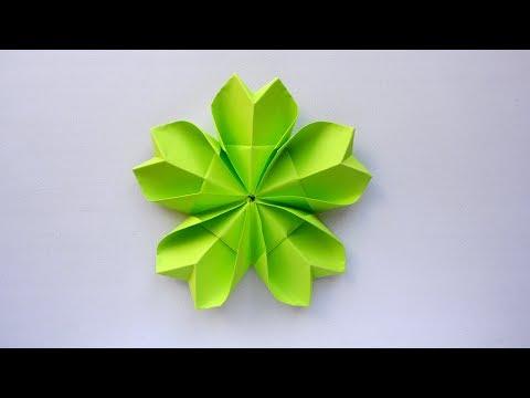 Простой цветок из бумаги 🌼Оригами поделки для начинающих