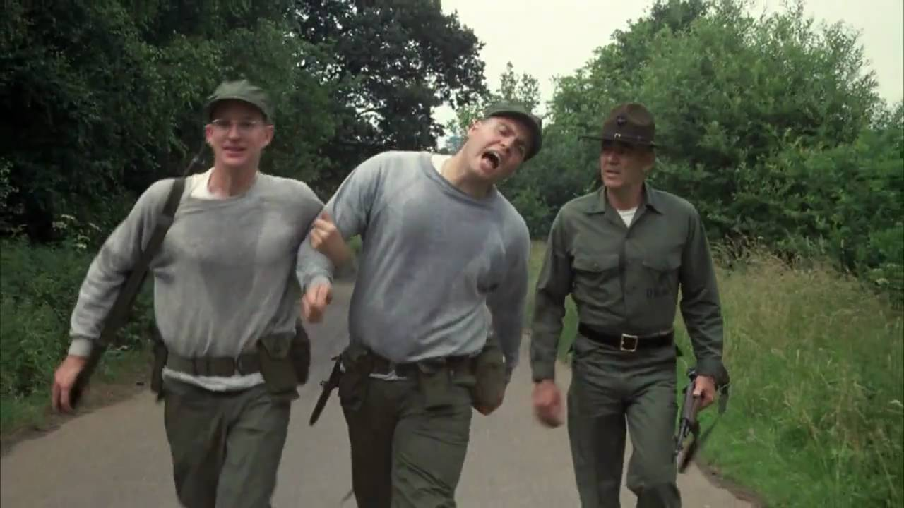 Image result for r lee ermey jogging