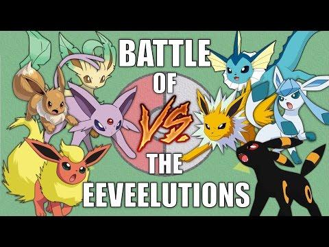Battle of the Eeveelutions - Pokemon Battle Revolution (1080p 60fps)