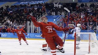 The Russians beat the United States 4-0 in the Olympic Games and Kovalchuk scored twice.