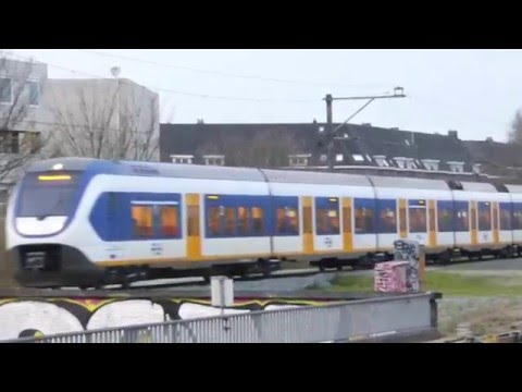 Trains and Metro in Amsterdam - Amstel Station