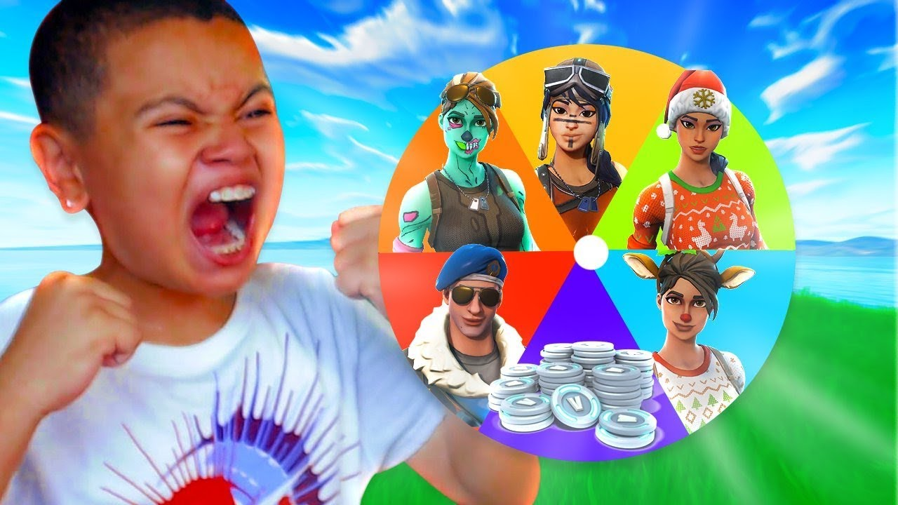 1-kill-mystery-wheel-spin-to-gift-a-crazy-skin-for-little-brother-fortnite-must-watch