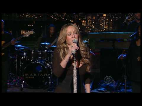 Mariah Carey performs HATEU on David Letterman 111309
