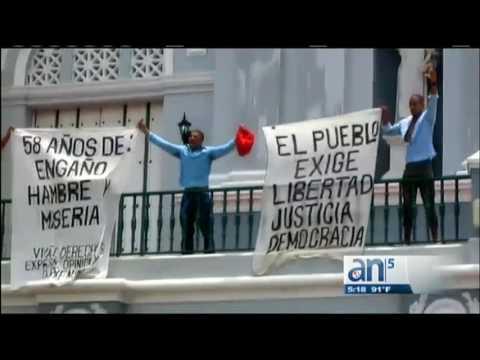 Siguen detenidos los opositores que protestaron este 26 de julio en la catedral de Santiago de Cuba