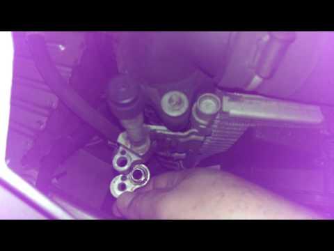 Как снять Радиатор кондиционера на Опель Зафира Б